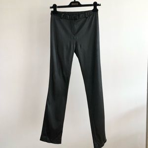 MOSCHINO Black Satin 90s VTG Straight Leg Trousers